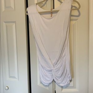 T shirt tank with front tie